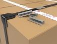Metalen sluitzegels om omsnoeringsbanden vast te zetten